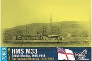 British Monitor HMS M33, 1/700