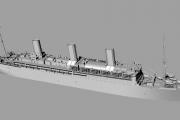 Ocean Liner SS Vaterland/SS Leviathan, Troop Transport USS Leviathan, 1/700