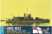 British Monitor HMS M22, 1/700