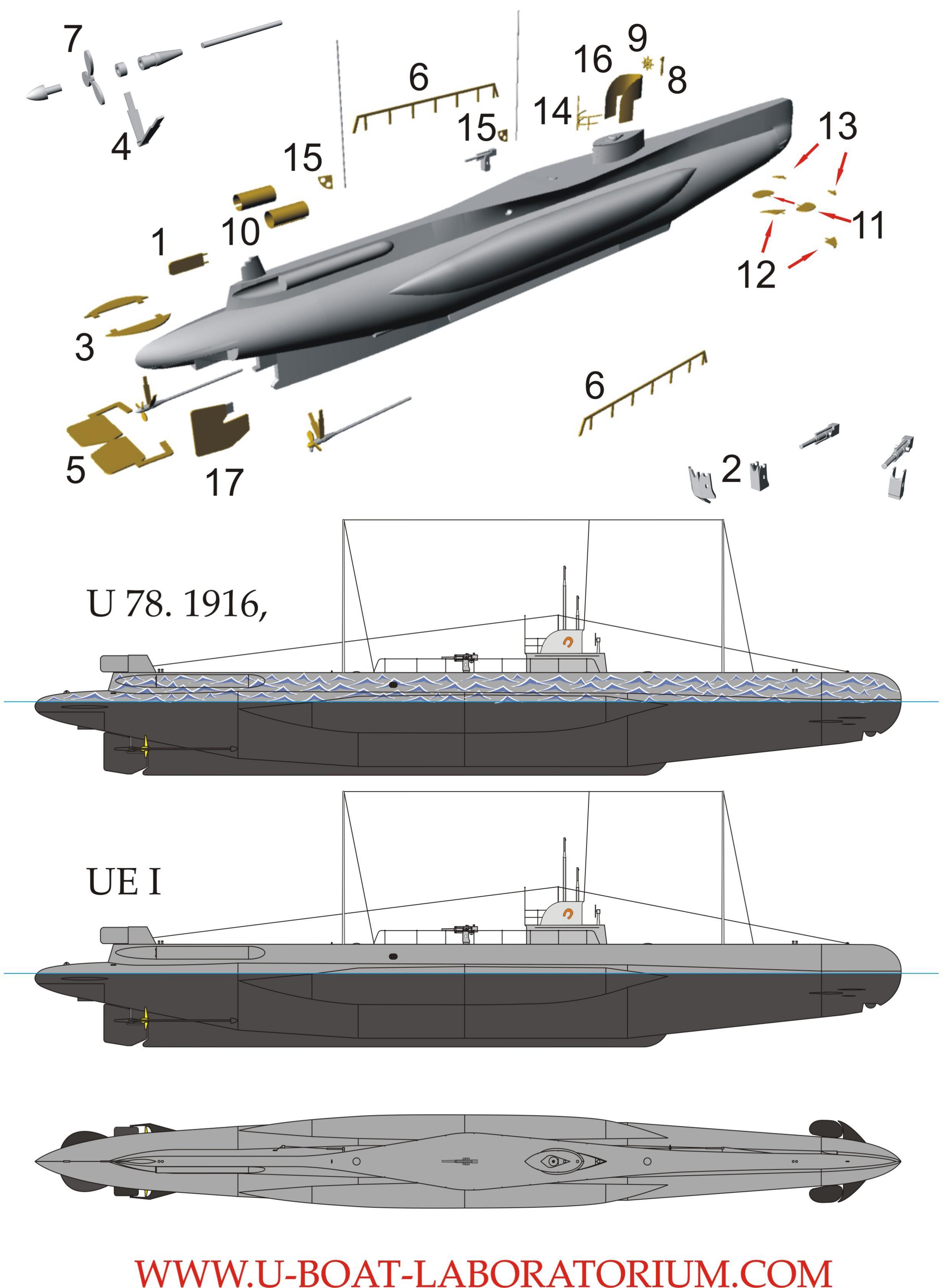 78 Images About Temperance On Pinterest: German Submarine U-78, 1916, 1/350